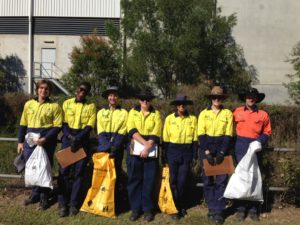Green Army Volunteers collecting litter